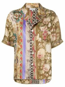 Pierre-Louis Mascia printed silk shirt - NEUTRALS