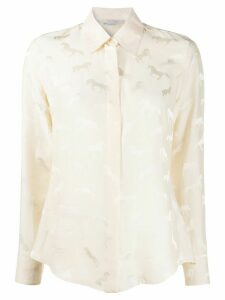 Stella McCartney horses-jacquard long-sleeve shirt - NEUTRALS