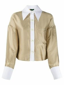 Jejia striped pointed-collar shirt - NEUTRALS