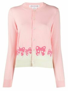 Comme Des Garçons Girl x Disney bow knit cardigan - PINK