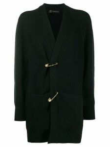 Versace safety pin cardigan - Black