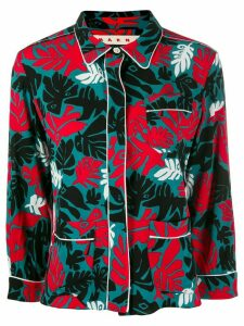 Marni Eyed Leaves print shirt - Blue