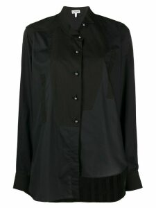 Loewe panelled asymmetric shirt - Blue