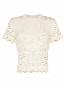 AMIRI love crochet knit top - NEUTRALS