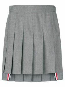 Thom Browne dropped back pleated mini skirt - Grey