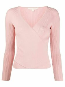 Jonathan Simkhai ribbed v-neck top - PINK