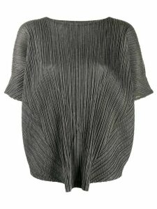 Pleats Please Issey Miyake micro-pleated tunic top - Black