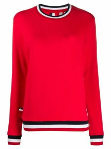 Rossignol stripe detail cotton blend sweatshirt - Red