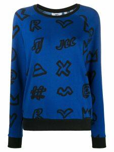 Rossignol icon print crew neck sweatshirt - Blue