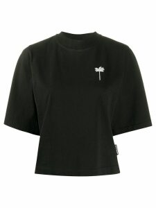 Palm Angels cropped palm tree motif T-shirt - Black