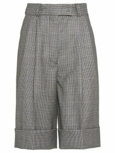Miu Miu houndstooth check shorts - Grey