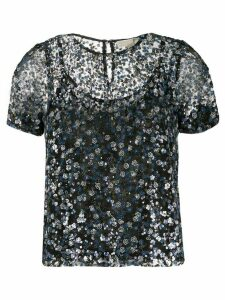 Michael Michael Kors sheer sequined blouse - Blue