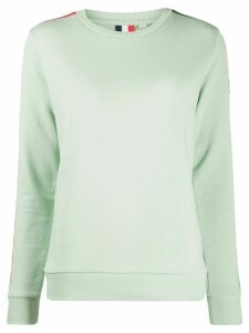 Rossignol racer stripe cotton blend sweatshirt - Green