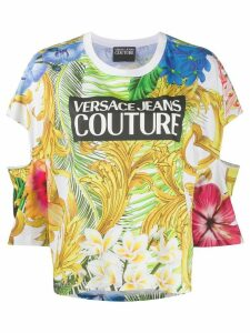 Versace Jeans Couture floral fronds print cotton T-shirt - White