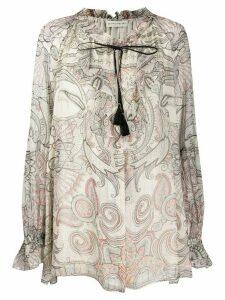 Etro paisley print blouse - Grey