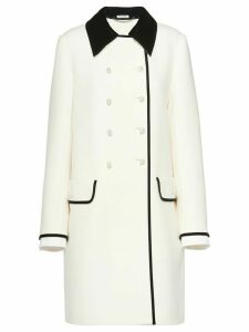 Miu Miu two-tone double-breasted coat - White