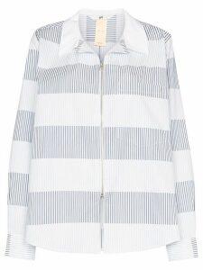 Eytys Daytona striped shirt jacket - Blue