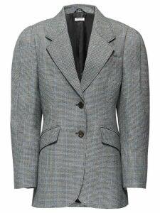 Miu Miu houndstooth check single-breasted blazer - Grey