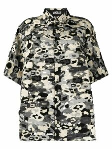 Miaoran sheer camouflage print shirt - Black