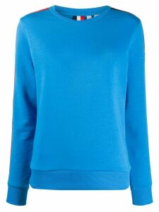 Rossignol racer striped sleeve jumper - Blue