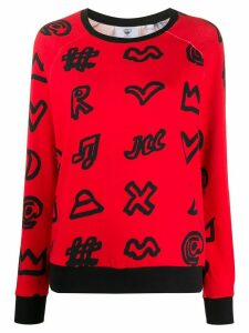 Rossignol scribbled symbol print sweatshirt - Red