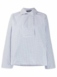 Sofie D'hoore gingham print bib front cotton shirt - Blue