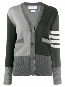 Thom Browne milano stitch V-neck cardigan - Grey