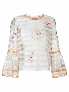 Fendi flower print blouse - NEUTRALS