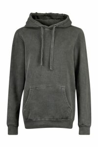 Womens Neon Washed Oversized Hoody - Grey - M, Grey