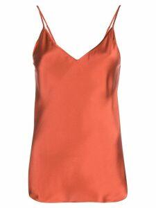 Lee Mathews Stella silk cami top - Red