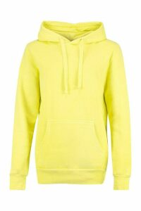 Womens Neon Washed Oversized Hoody - green - M, Green