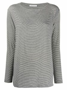 Stefano Mortari striped long-sleeved top - White