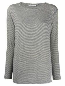 Stefano Mortari striped long-sleeved top - White