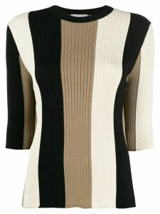 Ami Paris striped knitted jumper - NEUTRALS