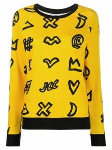 Rossignol doodle-print sweatshirt - Yellow