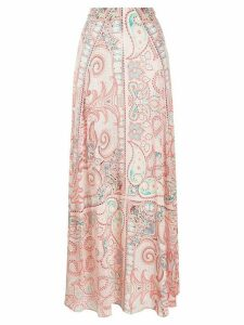Etro paisley print maxi skirt - ORANGE