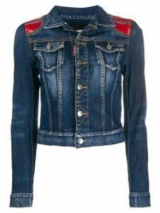 Dsquared2 contrast denim jacket - Blue
