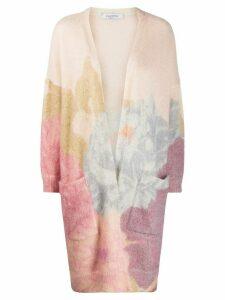 Valentino mohair blend long cardigan - NEUTRALS