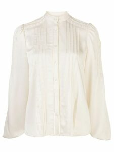 Alexis Balor pleated-shoulder blouse - White
