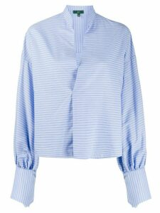 Jejia striped high-collar blouse - Blue