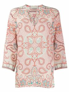 Etro floral print blouse - ORANGE