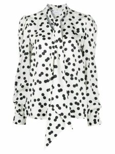 Racil polka dot bow tie blouse - White
