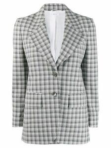 Thom Browne gingham check blazer - Grey