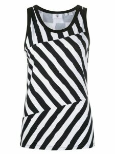 Rossignol striped tank top - White