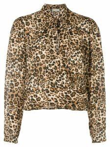 Nicholas leopard print pussybow blouse - NEUTRALS