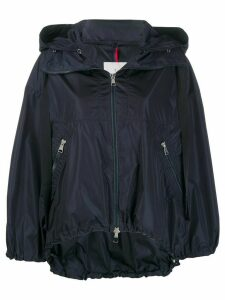 Moncler balloon-sleeved hooded jacket - Blue