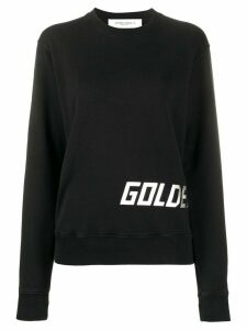 Golden Goose Golden-print crew neck sweatshirt - Black
