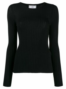 Ami Paris crew neck ribbed jumper - Black