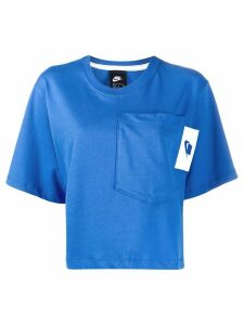 Nike short-sleeve cropped T-shirt - Blue