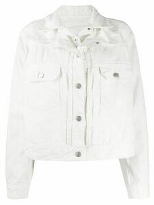 Sacai layered denim jacket - White
